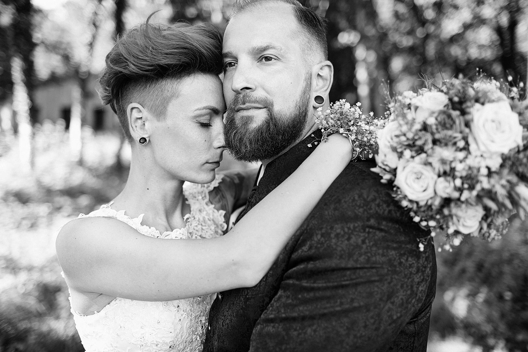Ein Hochzeitsfoto eines Brautpaares vom Hochzeitsfotografen