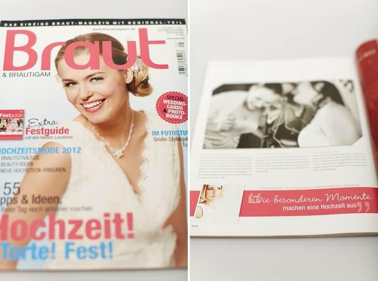 Das Braut & Bräutigam Magazin mit einem Lieblingsbild von uns
