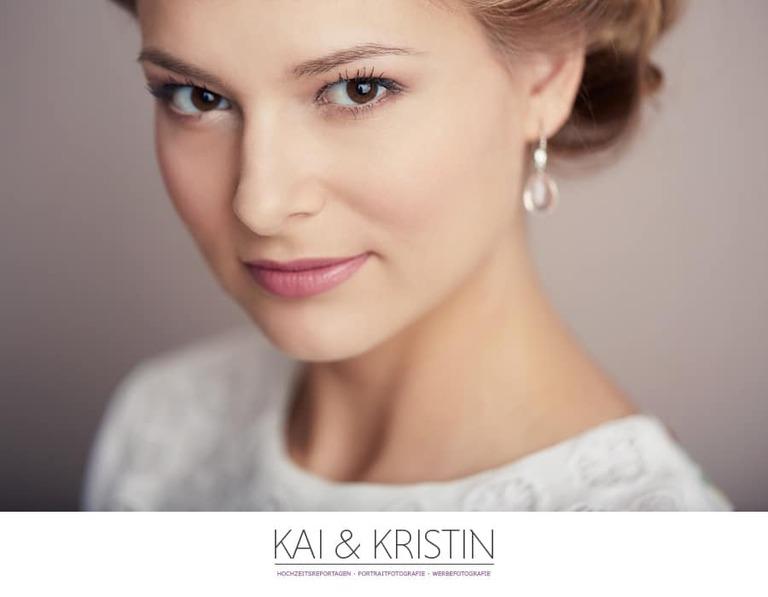 Ein Model mit Braut Make-up