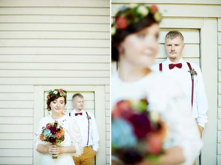 Paarfotos eines Brautpaares vom Hochzeitsfotografen