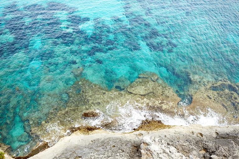 Eine Draufsicht vom Meer