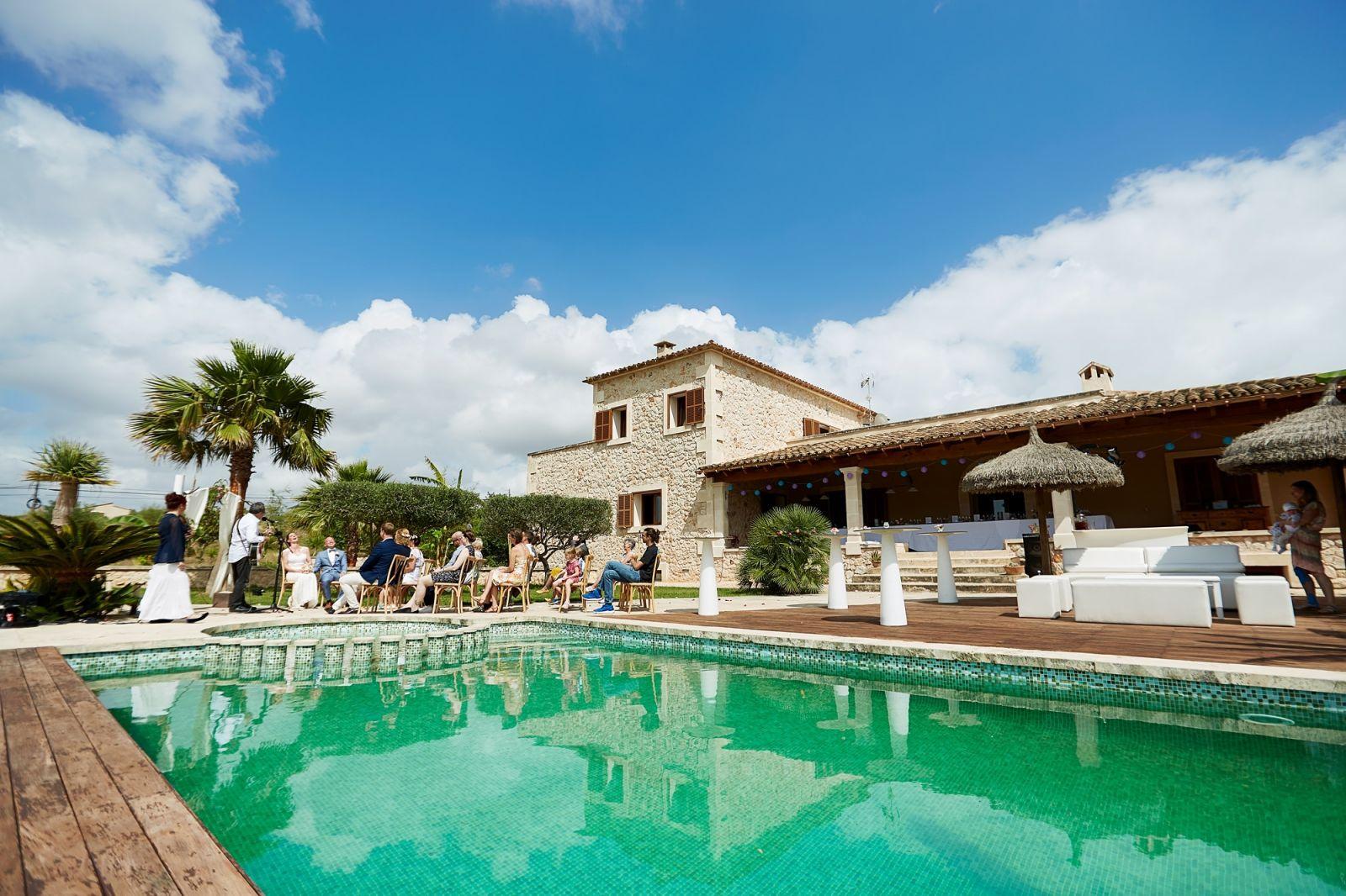 Eine Hochzeitslocation auf Mallorca. Eine Finca