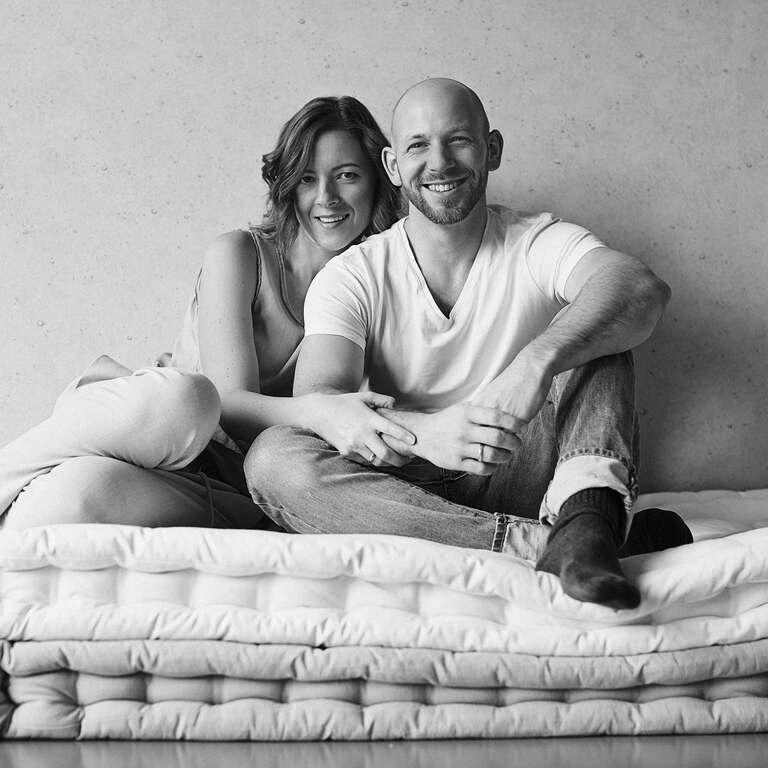 Die Fotografen Kai und Kristin aus Leipzig in ihrem Fotostudio