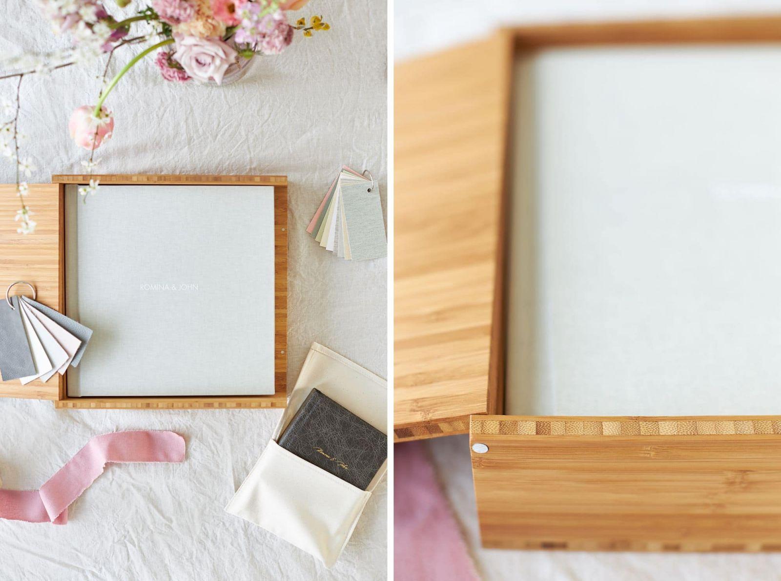 Ein Fine Art Album in einer Bambus-Box