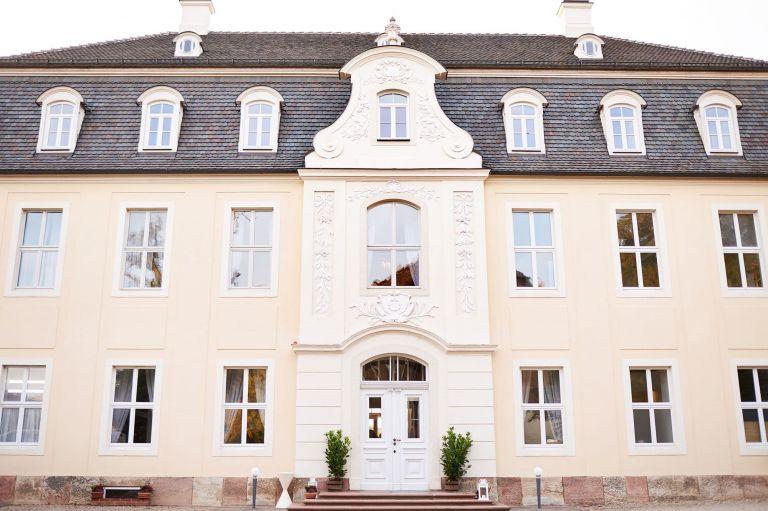 Das Herrenhaus des Rittergut Ermlitz bei Leipzig